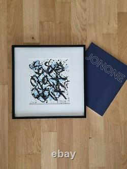 Jonone Lithography 2014 Framed, Dated And Signed + Book Exhibition Signed