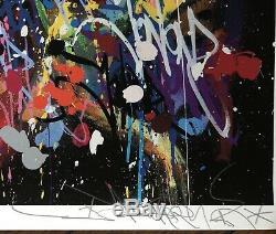 Jonone Original Lithograph Signed Numbered My World Street Art Banksy