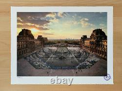 Jr At The Louvre March 29 6:08 Pm / Signed And Numbered Lithograph Print Edition /250