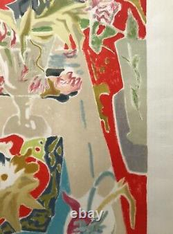 Jules Cavailles Lithography Original Nature Morte Bouquet Event Artist 1960