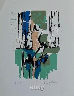 Kallos Paul Original Lithography Signed Abstract Art Abstraction Budapest Loeb