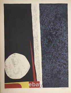 Ladislas Kijno 1921-2012. Composition. Original Signed Lithography. 65x50