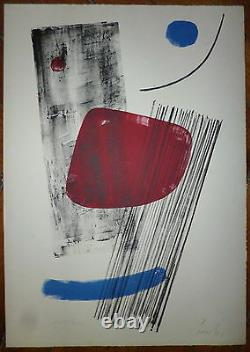 Lardera Berto Lithography 1965 Signed Numbered Abstract Art Abstraction