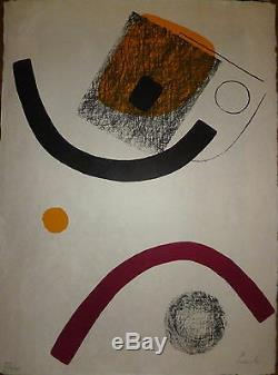 Lardera Berto Original Lithograph Signed Quebec Abstract Abstraction