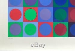 Litho Victor Vasarely Serigraph Numbered Signed Original Planetary Folklore