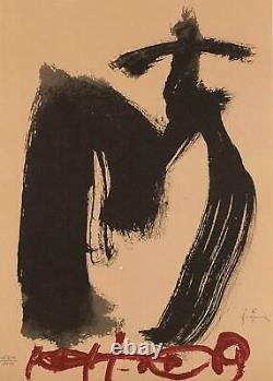 Lithograph By Antoni Tapies, M. Ojos Y Cruz, Numbered In Pencil