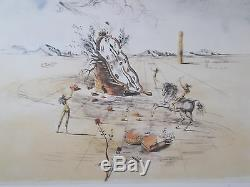 Lithograph, Salvador Dali Cosmic Horseman, Signed And Numbered