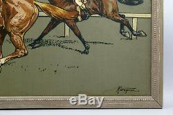 Lithographie Framed, Horse Racing, K. Wagner