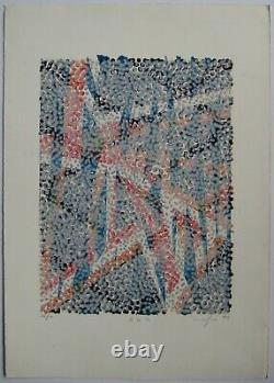 Lithography 1972 Signed Pencil Num/50 Handsigned Numb Lithograph Cinetic Art