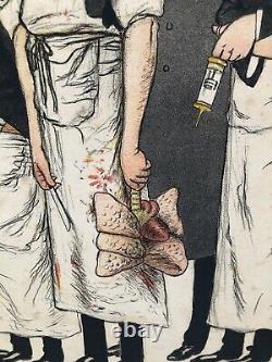 Lithography Former Adrien Barrere (1874-1931) Humour Cartoon Medicine XIX