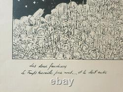 Lithography Georges D'ostoya Sign Faucher Mort World War 14-18 Poilu