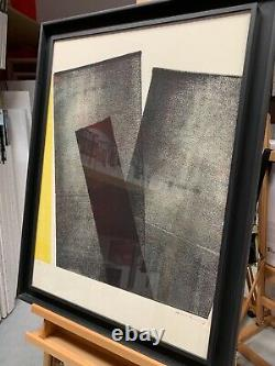Lithography Hans Hartung 1971 On Velin Paper Guarro Signed Proof