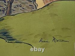 Lithography Henri Riviere Le Hameau Nature's Aspects 1899 M224
