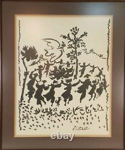 Live Peace. Lithography Signed On Plate. Pablo Ruiz Picasso. XX Century