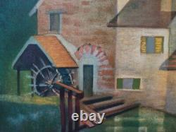 Louis Toffoli The Old MILL Of Gercy Lithography Original # Signed Pencil