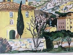 Lus La Croix Haut Yves Brayer Lithograph Signed Numbered