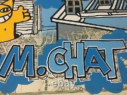 M Chat, Metro Plan Numbered /50 Very Rare, Banksy, Jonone, Thoma Vuille