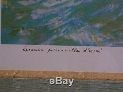 Marin Marie Exceptional Personal Trial Test Engraving / Litho -signée