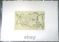 Masson Andre Original Lithograph Signed, Justified Sexual Mythology 1971