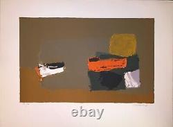 Mauduit Henri Original Lithograph Signed Numbered Abstract Art