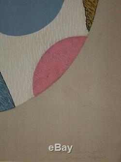 Max Papart Floral Print Original Lithograph