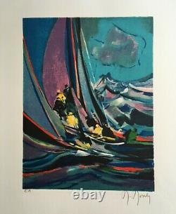 Mouly Marcel Original Lithography La Regate