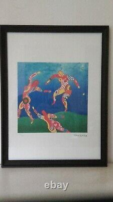 Niki De Saint Phalle -the Signed And Numbered Lithography Dance With Black Frame