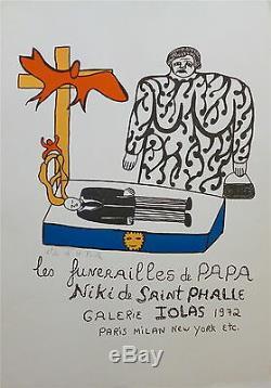 Niki Litho Poster Signed Iolas Gallery Paris 1972 New York P297