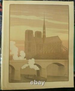 Notre Dame De Paris (1899), Original Lithography By Paul Berthon (1872-1934)