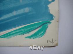 Olivier Debré Lithograph Signed In Pencil Num / 200 Handsigned Lithograph