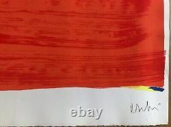 Olivier Debré Rare Lithography Original Event Lyric Abstraction Signed