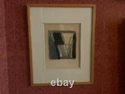Original Lithograph Bram Van Velde Numbered Signed Framed