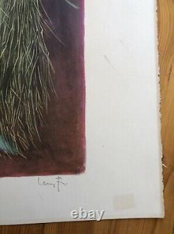 Original Lithograph Signed Numbered Certificate Ceres Leonor Fini Circa 70