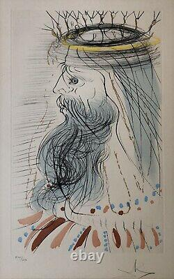 Original Lithography Salvador Dali Portrait King Solomon Signed Numbered 20th