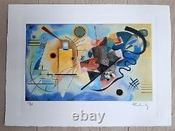 Original M Arts Edition Kandinsky Lithography Signed Numbered 150 Inclus Cadre