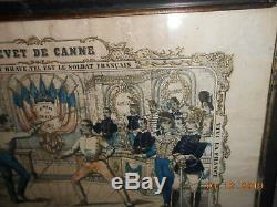 Patent Cane Under Glass Made In Marseille 1876 63rd Regiment Of The Line