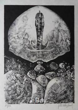 Patrick Brissaud The Sarcophagus Original Signed Lithographie # 75ex