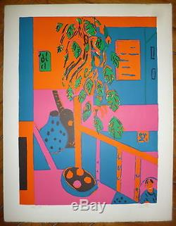 Paul Crotto Signed Lithograph Numbered Abstract Abstraction Uk
