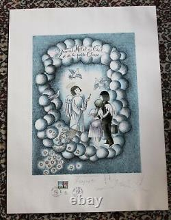Peynet Lovers Rare Original St Valentine's Day Signed With Dessin