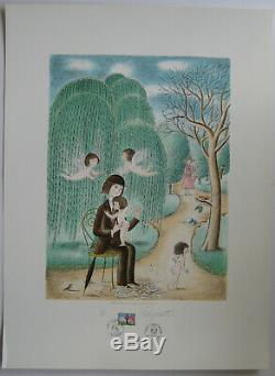 Peynet Raymond Lithograph Signed In Pencil Numbered Lithograph Handsigned Numb