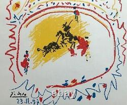 Picasso Lithography La Petite Corrida Mourlot Rare Original Lithograph 1957
