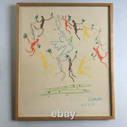 Picasso The Round Of Friendship Lithograph Original On Paper Arches 1961