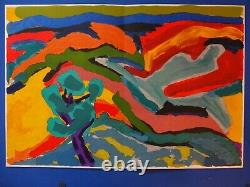 Pierre Ambrogiani The Valley In Autumn Original Lithography Signed