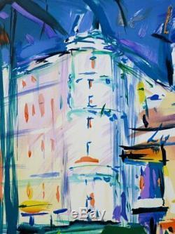 Pierre Bellier Cannes La Croisette Lithographie Signed In Pencil # 600ex