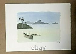 Pierre Le Tan Seas Of The South Original Lithograph Rives Paper Numbered Signed Plate