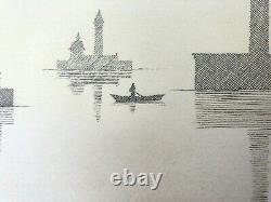 Pierre Le Tan Venezia Original Lithograph Rives Paper Numbered Signed Flat