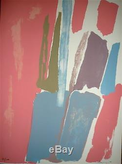Pierre Pallut Lithograph 1972 Art Abstract Lyrical Abstraction