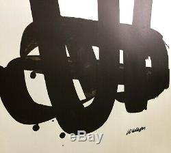 Pierre Soulages Lithography No. 29 Printed Original Lithograph By Mourlot