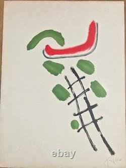 Pierre Tal Coat Original Lithography Signed At The Crayon Abstract Ecole Paris