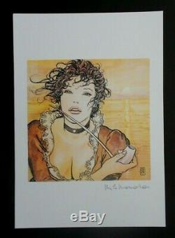 Portrait, Silk Screen Milo Manara Signed In Pencil